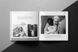 Editorial Design Reise ins Ungewisse Doppelseite