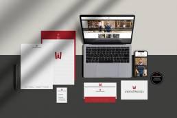 Der Weinschmecker Corporate Design Logo Briefbogen Visitenkarte